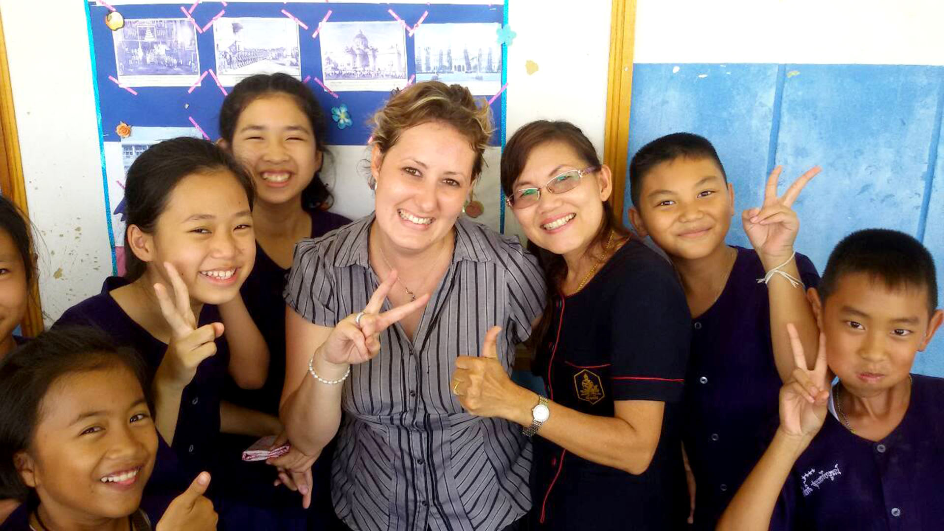 Teaching English in Thailand, classroom photo